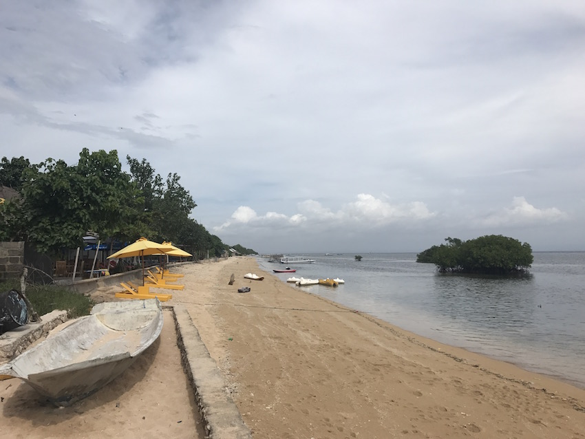 The beach along the eastern side of the island near the entrance to the Mangrove forest.