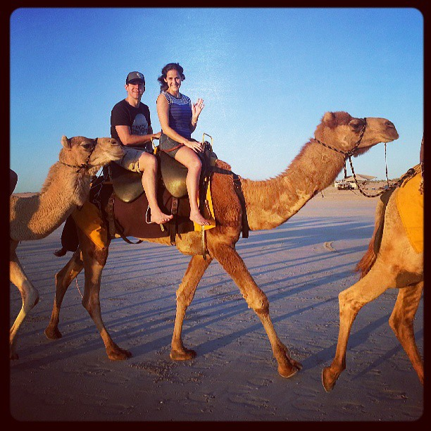 Camel ride on Cable Beach