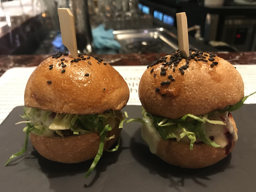 Mini burgers at Salt Tapas Bar