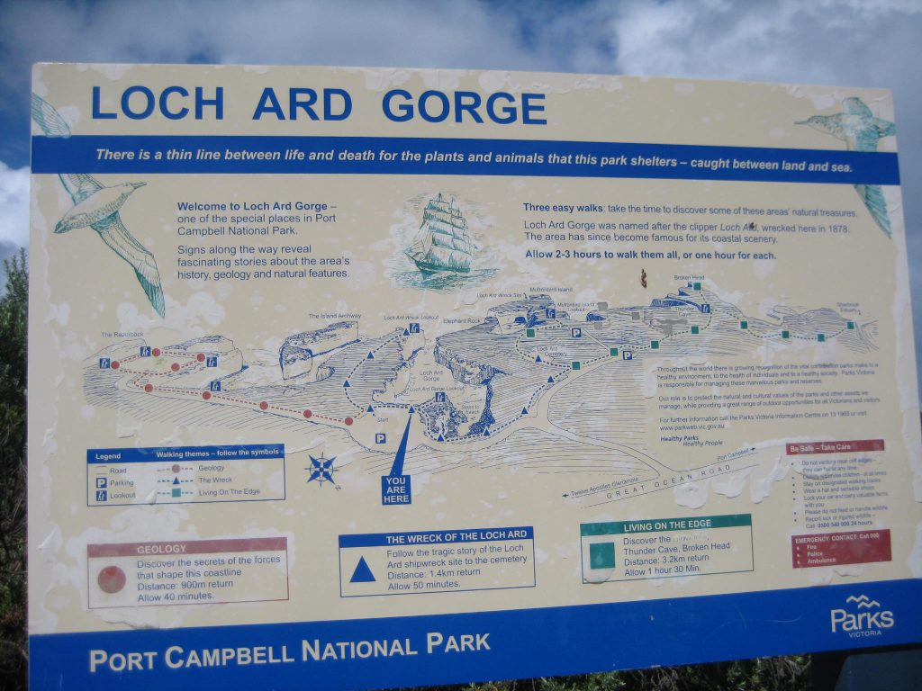 Loch Ard Gorge Sign