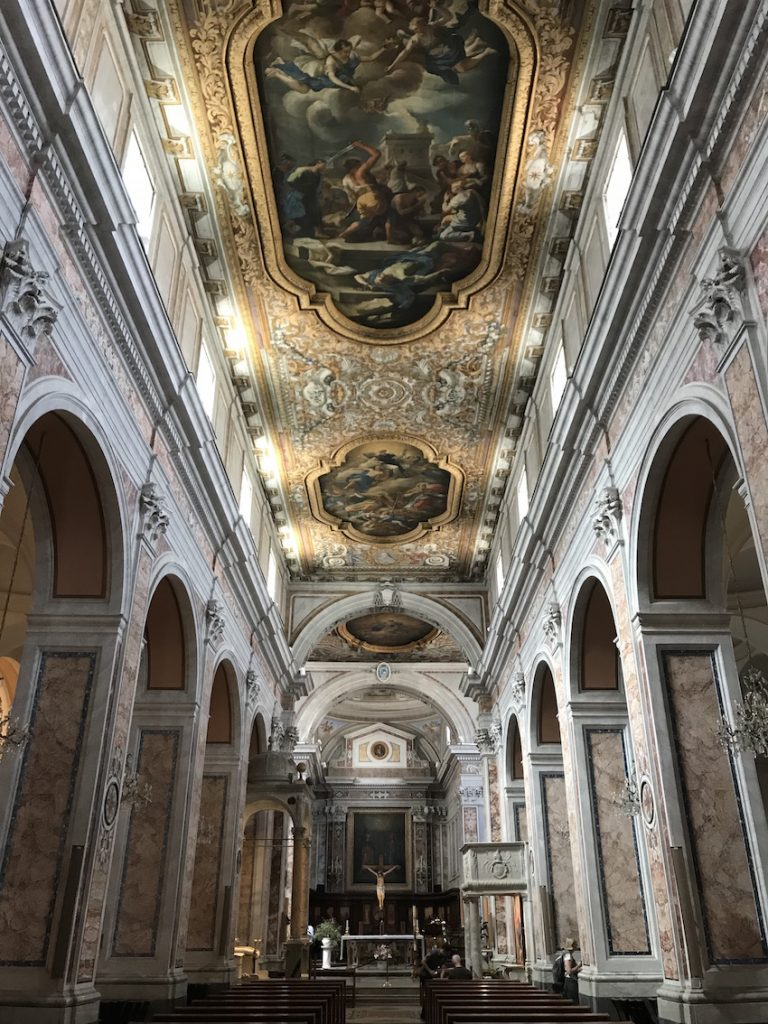 Inside the stunning Sorrento Cathedral